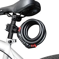 olcso Riasztó és biztonság-9005- hegyi kerékpár zár hordozható wirerope 5 digitális kódzár jelszó biztonsági lopásgátló kerékpárzár 1,5m kábellel