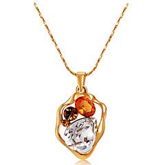preiswerte Halsketten-Damen Kristall / Kubikzirkonia Anhängerketten - Roségold, Krystall, Zirkon Klassisch, Modisch Gold Modische Halsketten 1 Für Hochzeit, Party