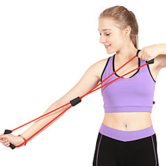 abordables Bandas de Resistencia-Banda de resistencia / tubo de ejercicio Con Caucho Barra de Fuerza, Jalar Terapia física, Entrenamiento de resistencia por Yoga / Fitness / Gimnasia
