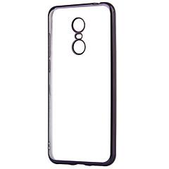 Недорогие Чехлы и кейсы для Xiaomi-Кейс для Назначение Xiaomi Redmi 5 Plus Покрытие Прозрачный Кейс на заднюю панель Сплошной цвет Мягкий ТПУ для Xiaomi Redmi 5 Plus