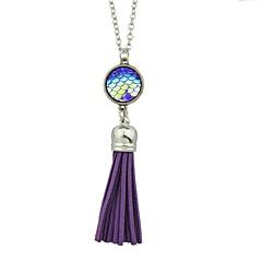preiswerte Halsketten-Damen Anhängerketten - Imitation Turmalin Einfach, Grundlegend Rosa, Hellblau, Leicht Grün Modische Halsketten Für Alltag, Neujahr
