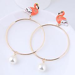 preiswerte Ohrringe-Damen Tropfen-Ohrringe - Flamingo Europäisch, Modisch Weiß / Orange Für Alltag