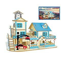 abordables Puzzles 3D-Puzzles de Madera Puzles y juguetes de lógica Arquitectura De moda Clásico De moda Nuevo diseño Nivel profesional Juguete del foco Alivio
