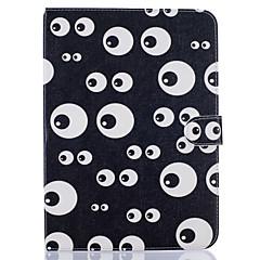Недорогие Чехлы и кейсы для Galaxy Tab 3 Lite-Кейс для Назначение Samsung Бумажник для карт Кошелек со стендом С узором Авто Режим сна / Пробуждение Чехол Мультипликация Твердый Кожа