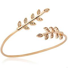 preiswerte Armbänder-Damen Manschetten-Armbänder - Diamantimitate Blattform Modisch Armbänder Gold Für Alltag / Ausgehen