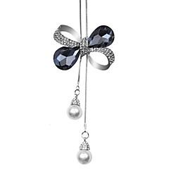 preiswerte Halsketten-Damen Quaste / Lang Anhängerketten - Schleife Europäisch, Modisch Dunkelblau, Grau Modische Halsketten Schmuck Für Party