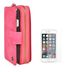 Недорогие Кейсы для iPhone-Кейс для Назначение Apple iPhone 8 iPhone 6 Бумажник для карт Кошелек Флип Магнитный Сплошной цвет Твердый Кожа PU для iPhone 8 Pluss