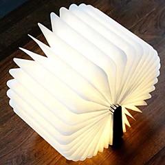 お買い得  LED アイデアライト-1個 LEDナイトライト Warm White Cold White 内蔵リチウム電池駆動 充電式 USBポート付き