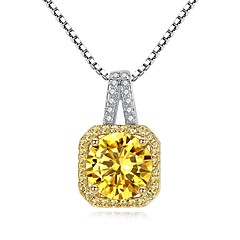 preiswerte Halsketten-Damen Kubikzirkonia Anhängerketten - Zirkon Retro, Modisch Silber Modische Halsketten Für Geschenk, Alltag