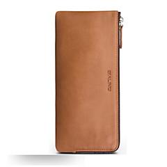 Недорогие Кейсы для iPhone-Кейс для Назначение Huawei Mate 9 Mate 8 Бумажник для карт Защита от удара Чехол Сплошной цвет Мягкий Настоящая кожа для Honor 8 Huawei