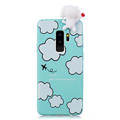 halpa Galaxy S6 Edge kotelot / kuoret-Etui Käyttötarkoitus Samsung Galaxy S9 S9 Plus Iskunkestävä Kuvio DIY Takakuori 3D sarjakuva Piirretty Pehmeä TPU varten S9 Plus S9 S8