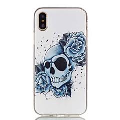お買い得  iPhone 5S/SE ケース-ケース 用途 Apple iPhone X iPhone 8 パターン バックカバー スカル ソフト TPU のために iPhone X iPhone 8 Plus iPhone 8 iPhone 7 Plus iPhone 7 iPhone 6s Plus iPhone