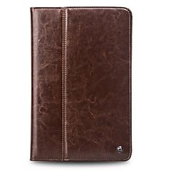 Недорогие Кейсы для iPhone-Кейс для Назначение Apple iPad Air 2 Бумажник для карт Защита от удара со стендом Флип Чехол Сплошной цвет Твердый Настоящая кожа для