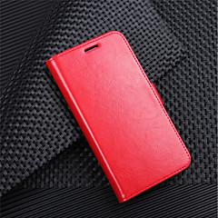 Недорогие Чехлы и кейсы для LG-Кейс для Назначение LG K10 2018 G7 Бумажник для карт Кошелек Флип Магнитный Чехол Однотонный Твердый Кожа PU для LG V30 LG V20 MINI LG Q6