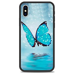 Недорогие Кейсы для iPhone 7-Кейс для Назначение Apple iPhone X iPhone 8 Plus С узором Кейс на заднюю панель Бабочка Мультипликация Твердый Акрил для iPhone X iPhone