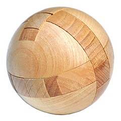 voordelige -KINGOU Wooden Puzzle Magic Ball Luban houten 3D-puzzel Focus Toy Stress en angst Relief Puinen 1pcs Geschenk