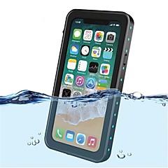 Недорогие Кейсы для iPhone-Кейс для Назначение Apple iPhone X Защита от удара Водонепроницаемый Полупрозрачный Чехол Сплошной цвет Твердый пластик для iPhone X