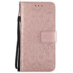 voordelige Galaxy A5 Hoesjes / covers-hoesje Voor Samsung Galaxy A8 2018 A8 Plus 2018 Kaarthouder Portemonnee met standaard Flip Patroon Volledig hoesje Mandala Hard PU-nahka