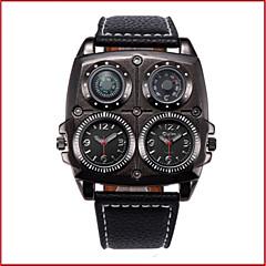 preiswerte Herrenuhren-Oulm Armbanduhren für den Alltag Modeuhr Sender Wasserdicht, Kompass, Duale Zeitzonen Weiß / Schwarz / Braun