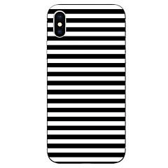 Недорогие Кейсы для iPhone 6-Кейс для Назначение Apple iPhone X iPhone 8 С узором Кейс на заднюю панель Полосы / волосы Мягкий ТПУ для iPhone X iPhone 8 Pluss iPhone