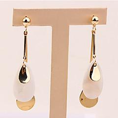 preiswerte Ohrringe-Damen Lang Tropfen-Ohrringe - Harz Tropfen Einfach, Europäisch, Modisch Gold Für Normal