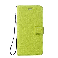 Недорогие Чехлы и кейсы для LG-Кейс для Назначение LG K3 (2017) Бумажник для карт Кошелек со стендом Флип Чехол Сплошной цвет Твердый Кожа PU для LG K10 LG K8 LG K7 LG