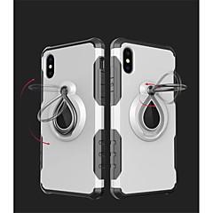 お買い得  iPhone 5S/SE ケース-ケース 用途 Apple iPhone X iPhone 8 耐衝撃 バンカーリング バックカバー 鎧 ソフト TPU のために iPhone X iPhone 8 Plus iPhone 8 iPhone 7 Plus iPhone 7 iPhone 6s Plus