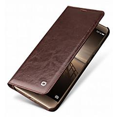 Недорогие Чехлы и кейсы для Huawei Mate-Кейс для Назначение Huawei Mate 9 Pro Mate 10 pro Бумажник для карт Защита от удара Чехол Сплошной цвет Твердый Настоящая кожа для Mate 9