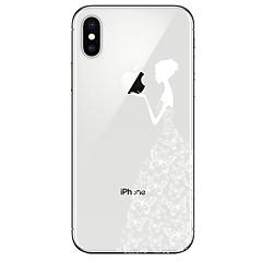 Недорогие Кейсы для iPhone 7-Кейс для Назначение Apple iPhone X iPhone 8 Прозрачный С узором Кейс на заднюю панель Бабочка Соблазнительная девушка Мягкий ТПУ для