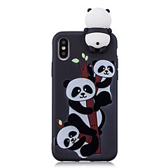 billige iPhone-etuier-Etui Til Apple iPhone X iPhone 8 Stødsikker Mønster GDS Bagcover Panda 3D-tegneseriefigur Tegneserie Blødt TPU for iPhone X iPhone 8 Plus
