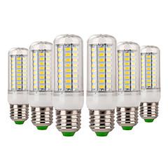 tanie Żarówki LED-YWXLIGHT® 6szt 7W 600-700 lm E14 E26/E27 Żarówki LED kukurydza 72 Diody lED SMD 5730 Dekoracyjna Ciepła biel Zimna biel AC 220-240V