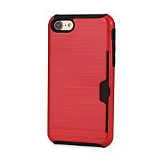 Недорогие Кейсы для iPhone-Кейс для Назначение Apple iPhone 8 / iPhone 7 Бумажник для карт Кейс на заднюю панель Однотонный Твердый пластик для iPhone 8 / iPhone 7