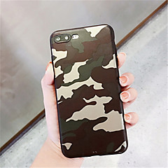 Недорогие Кейсы для iPhone X-Кейс для Назначение Apple iPhone X iPhone 7 Plus С узором Кейс на заднюю панель Камуфляж Мягкий ТПУ для iPhone X iPhone 8 Pluss iPhone 8