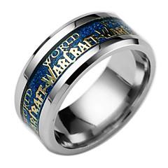 お買い得  指輪-男性用 バンドリング  -  ファッション 6 / 7 / 8 ブラック / ブルー 用途 日常