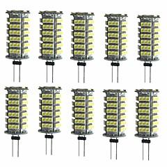 お買い得  LED 電球-10個 2W 200lm G4 LED2本ピン電球 T 1 LEDビーズ SMD 3528 装飾用 温白色 クールホワイト 12V
