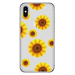 Недорогие Кейсы для iPhone 7-Кейс для Назначение Apple iPhone X / iPhone 8 Plus С узором Кейс на заднюю панель Цветы Мягкий ТПУ для iPhone X / iPhone 8 Pluss / iPhone 8