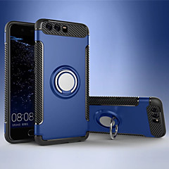 Недорогие Чехлы и кейсы для Huawei Mate-Кейс для Назначение Huawei Mate 9 Honor V9 Play Защита от удара Кольца-держатели Кейс на заднюю панель Сплошной цвет Твердый ТПУ для