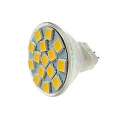 cheap LED Bulbs-SENCART 1pc 5W 260 lm MR11 LED Spotlight MR11 15 leds SMD 5060 Decorative Warm White Cold White DC 12V