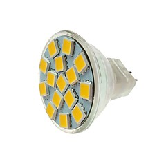 economico Lampadine LED-SENCART 1pc 5W 260 lm MR11 Faretti LED MR11 15 leds SMD 5060 Decorativo Bianco caldo Luce fredda CC 12V