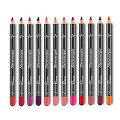 abordables delineador de labios-Delineador de Labios Seco Gloss colorido Cobertura Larga Duración Natural 12 Portátil