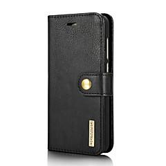 お買い得  Huawei Pシリーズケース/ カバー-ケース 用途 Huawei P8 Lite(2017) カードホルダー スタンド付き フリップ フルボディーケース 純色 ハード 本革 のために P8 Lite (2017)
