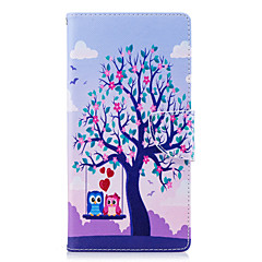 Недорогие Чехлы и кейсы для Sony-Кейс для Назначение Sony Xperia L2 Xperia XA2 Ultra Бумажник для карт Кошелек со стендом Флип С узором Чехол дерево Сова Твердый Кожа PU