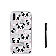 お買い得  iPhone 5S/SE ケース-ケース 用途 Apple iPhone X iPhone 8 Plus 半透明 バックカバー パンダ ソフト TPU のために iPhone X iPhone 8 Plus iPhone 7 Plus iPhone 7 iPhone 6s Plus iPhone 6s
