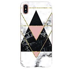 halpa iPhone kotelot-Etui Käyttötarkoitus Apple iPhone X iPhone 8 Ultraohut Kuvio Takakuori Geometrinen printti Marble Pehmeä TPU varten iPhone X iPhone 8