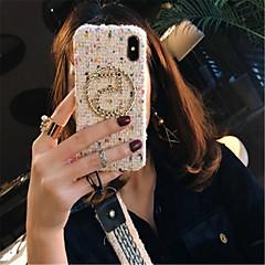 Недорогие Кейсы для iPhone 7-Кейс для Назначение Apple iPhone X iPhone 7 Plus С узором Кейс на заднюю панель Полосы / волосы Мягкий текстильный для iPhone X iPhone 8