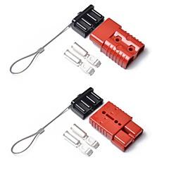 お買い得  故障診断機器&ツール-2本の赤い175 ampコネクタプラグ175aトレーラーデュアルバッテリーバッテリー、キャラバン用キャップ付き12v 24v 175a