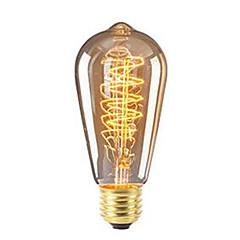 voordelige LED & Verlichting-1 st 40 w e27 st64 retro dimbare / decoratieve warm wit gloeiende vintage edison gloeilamp ac220-240v