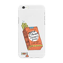 Недорогие Кейсы для iPhone-Кейс для Назначение Apple iPhone X iPhone 8 Plus С узором Кейс на заднюю панель Продукты питания Мультипликация Мягкий ТПУ для iPhone X