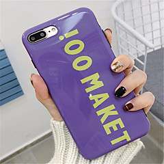 povoljno iPhone maske-Θήκη Za Apple iPhone X iPhone 7 Plus Uzorak Stražnja maska Riječ / izreka Mekano TPU za iPhone X iPhone 8 Plus iPhone 8 iPhone 7 Plus