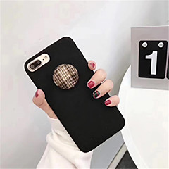 Недорогие Кейсы для iPhone X-Кейс для Назначение Apple iPhone X iPhone 7 Plus С узором Кейс на заднюю панель Сплошной цвет Твердый ПК для iPhone X iPhone 8 Pluss